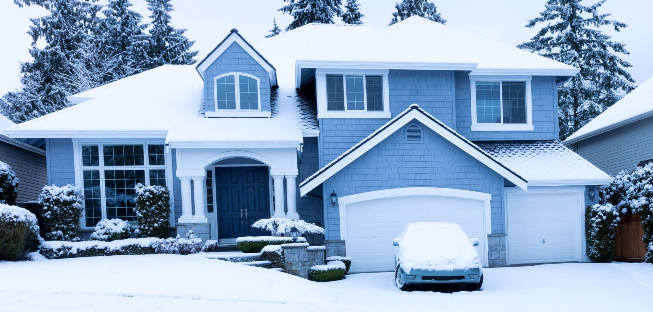 House with snow on it